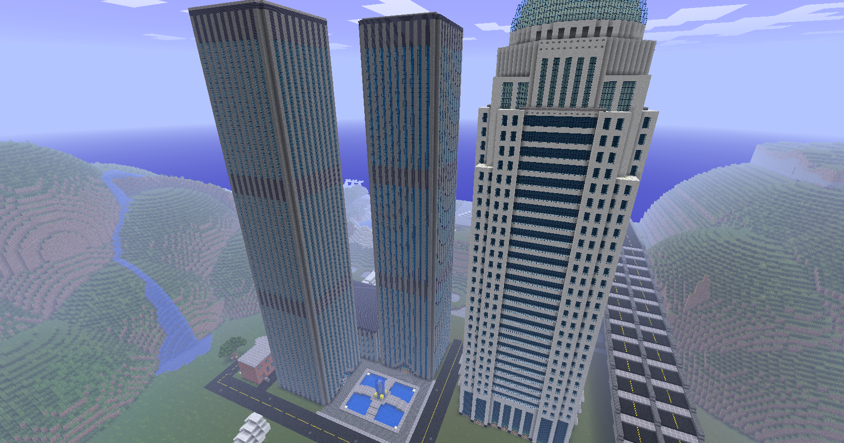 Minecraft city blueprints newcraft vecter city map